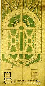 The Baroque Garden in Uppsala, drawn and planned by Carl Hårleman in 1744.